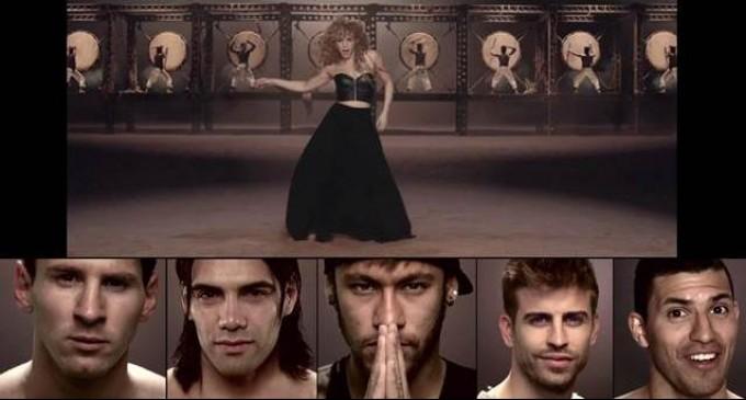 Con Messi, Falcao y Piqué, Shakira lanza su nueva versión de «La La La» para el Mundial de fútbol