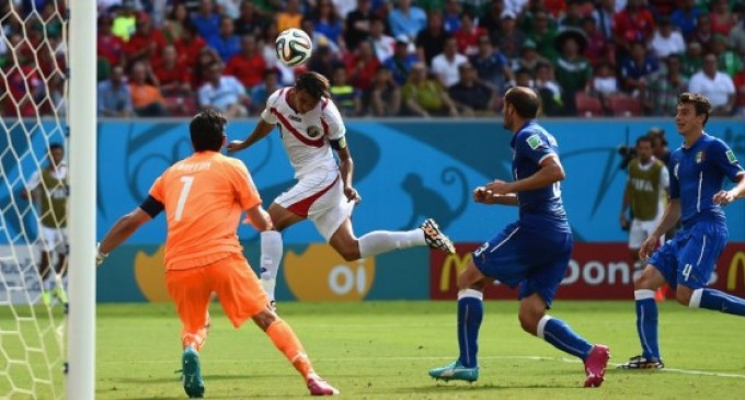 Espectacular victoria de Costa Rica ante Italia.