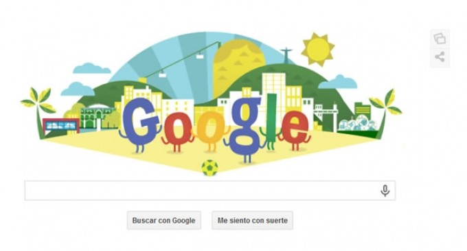Google 'brinca' de alegría por el inicio del Mundial de Brasil
