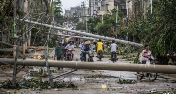 China: el tifón Rammasun deja al menos 16 muertos y millones de afectados