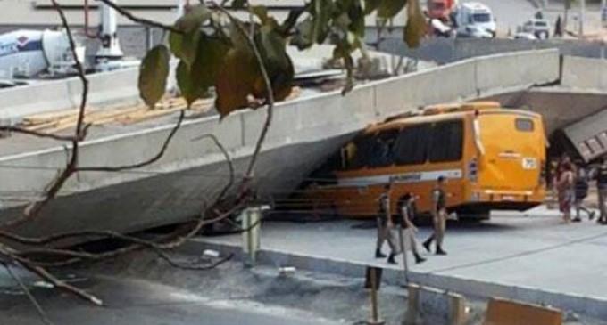 Se derrumbó una autopista en Belo Horizonte; por lo menos dos muertos
