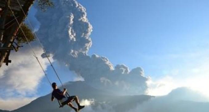 """National Geographic premia una foto tomada en Ecuador en """"El columpio del fin del mundo"""""""