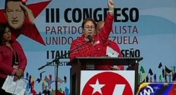 Chavista cambia el 'Padre Nuestro' y recita 'Chávez nuestro' en congreso oficialista en Venezuela
