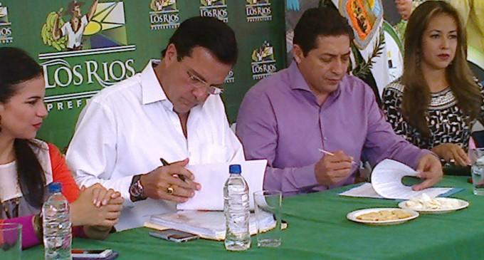 Prefecturas de los ríos y Guayas anuncia conformación de mancomunidad