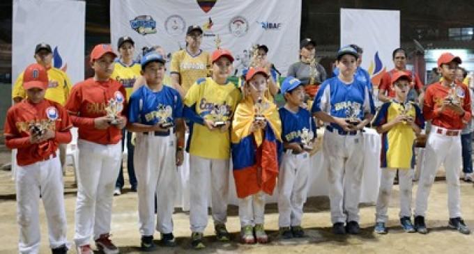 Colombia y Ecuador, campeón y subcampeón del Sudamericano Infantil de Béisbol