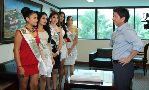 Alcalde terán recibió visita de candidatas a Reina de la Provincia