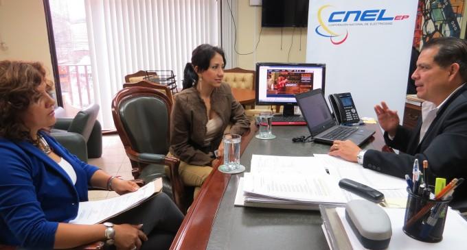 CNEL EP coordina trabajos eléctricos en Montalvo