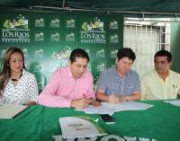 Gad de Babahoyo y Prefectura firmaron convenio interinstitucional