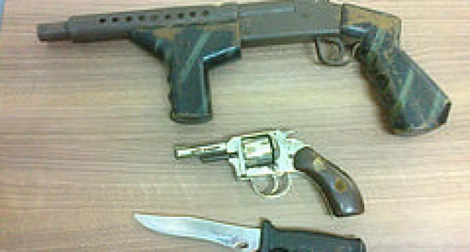 Tres detenidos y tres armas decomisó  la Policía en Quevedo
