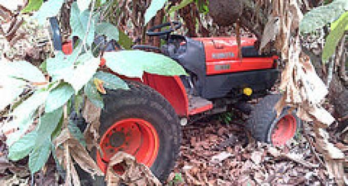 Policía Judicial recuperó una maquinaria agrícola en el cantón Mocache