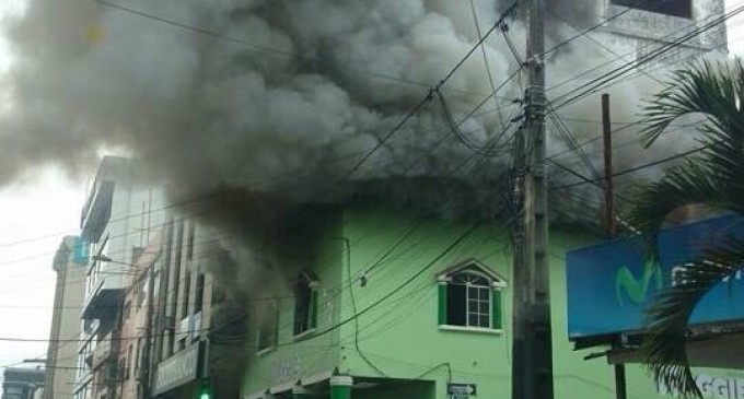 50 policías garantizaron la seguridad durante un incendio en Quevedo