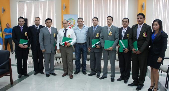 Personal de la UNASE recibió  reconocimiento del Municipio