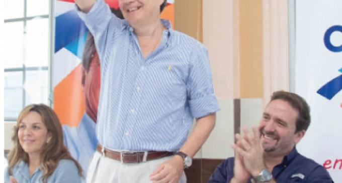 Guillermo Lasso, líder de CREO, visitó 4 provincias en enero.