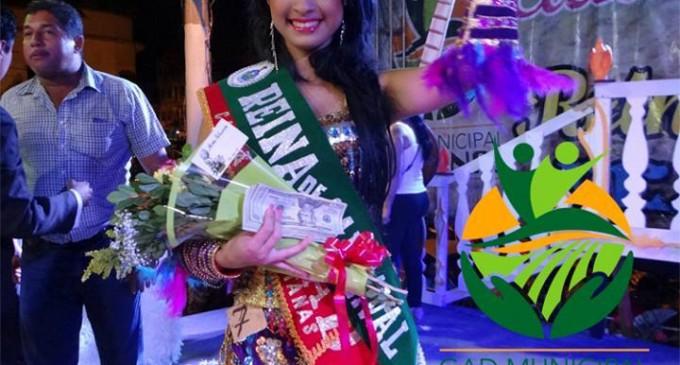 Priscila Saltos fue electa reina del carnaval Ventanas 2015