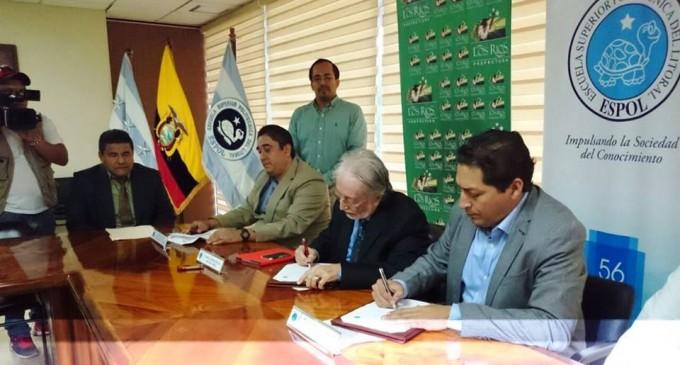 Prefectura de Los Ríos y la Espol acuerdan preservar peces nativos