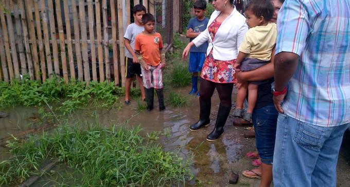 Las Malvinas en Baba afectada por lluvias