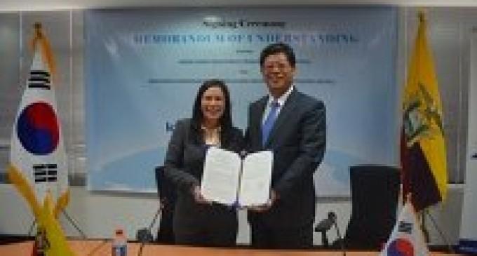 Ecuador y Corea unen lazos por el comercio e inversiones