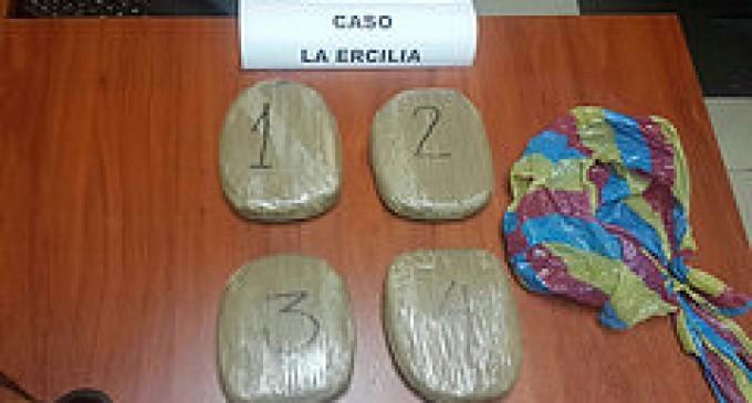 Policía incautó cuatro paquetes de cocaína en Ventanas