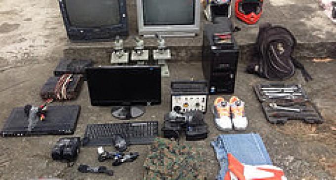 Policía descubre bodega  con objetos robados, en Babahoyo