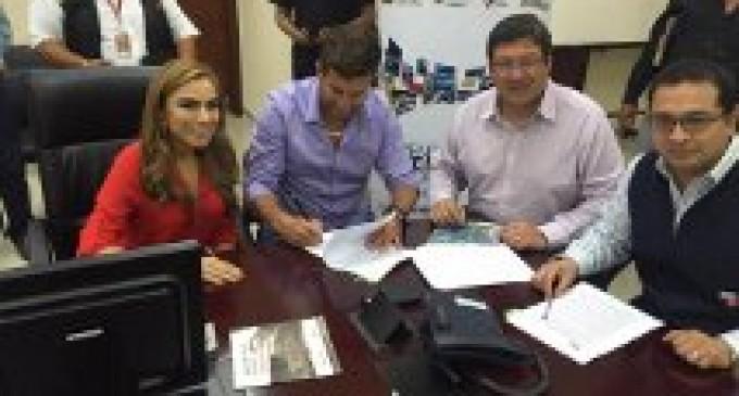 Alcalde Urrutia, firma convenio con el Ministerio de Seguridad