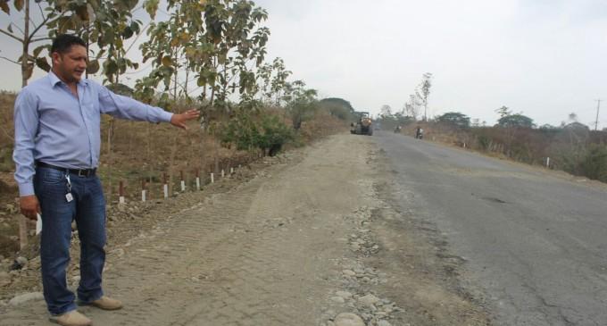 Ejecución de trabajos en la vía Santa Martha –  Palenque  PALENQUE