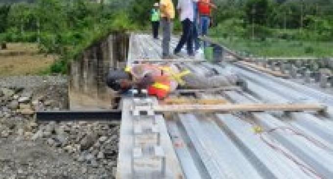 Nuevo puente El Saltadero en zona rural de Babahoyo