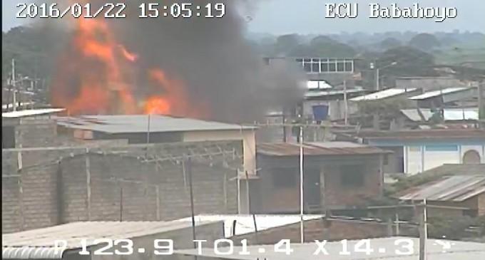 ECU 911 Babahoyo coordinó atención para incendio estructural