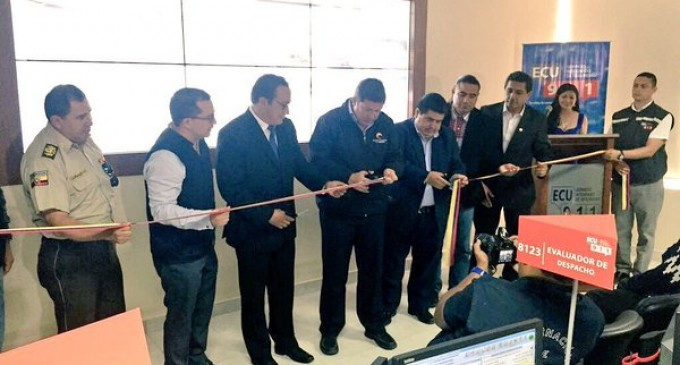 La octava Sala Operativa ECU 911 se inauguró en Bolívar