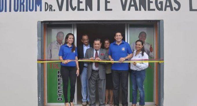 Auditorium Dr. Vicente Vanegas López fue inaugurado por la prefectura