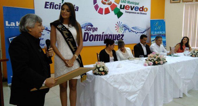 Alcalde de Quevedo declaró Huésped Ilustre a la bella Miss Ecuador 2016
