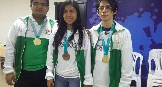 Con tres medallas de oro y una de bronce, Los Ríos retornó a casa desde los juegos nacionales