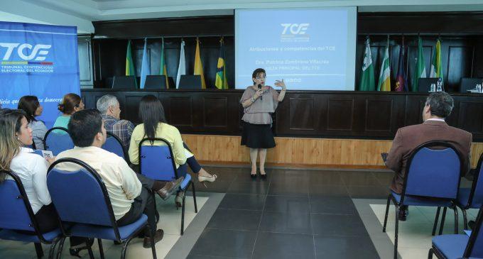 TALLER DE SOCIALIZACIÓN DE ATRIBUCIONES Y COMPETENCIAS DEL TRIBUNAL CONTENCIOSO ELECTORAL