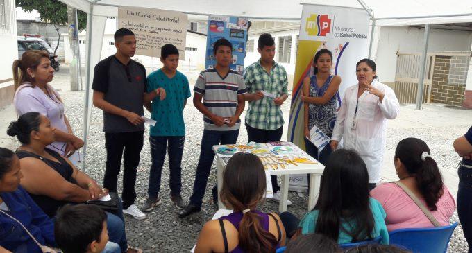 Club de Adolescentes del Centro de Salud Anidada participaron en actividades promocionales por conmemoración del mes de la salud mental