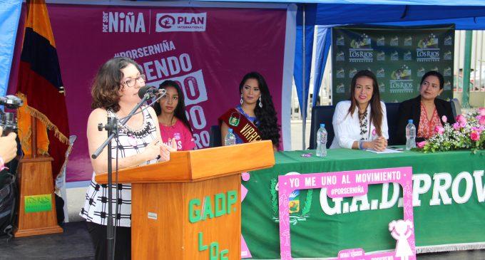 Prefectura de Los Ríos se une a la lucha por el bienestar de las niñas