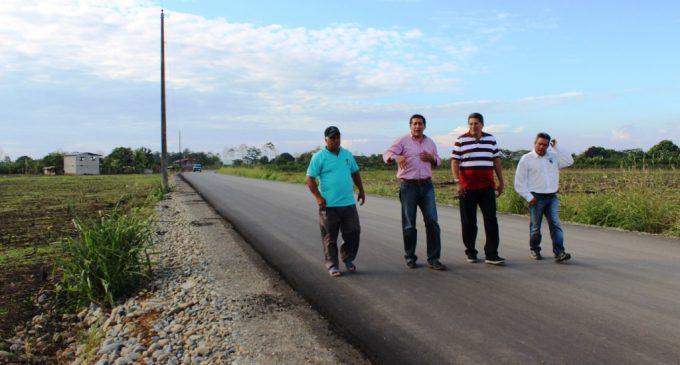 Ventanas: inició asfaltado de vía Ventanilla –La Yolanda –Rincón del Cura