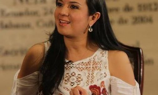 Pamela falconí , Viceministra del MIES