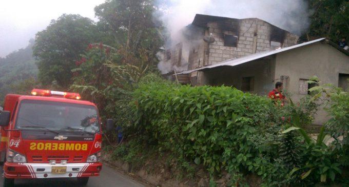 ECU 911 coordinó recursos para atención de incendio en San Miguel