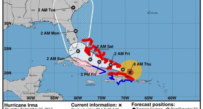 Devastación que deja el poderoso huracán Irma