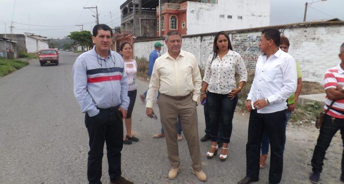 Alcalde Jorge Domínguez visitó esta mañana el sector Santa María