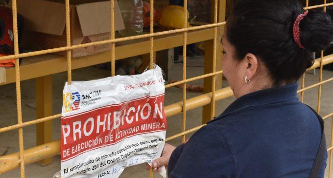 Arcom suspendió 47 labores mineras en Zaruma y Portovelo