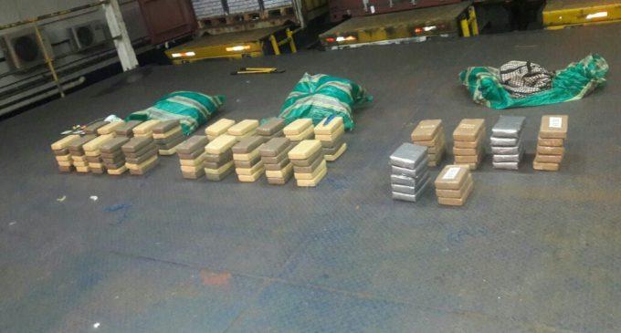 128 paquetes de cocaína fueron decomisados en operativo Binomio