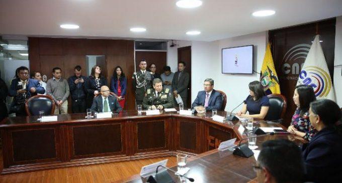 CNE y Ministerio del Interior garantizan la seguridad para el Referéndum y Consulta Popular 2018
