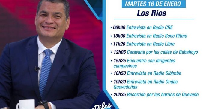 Rafael Correa cumplirá agenda en Babahoyo