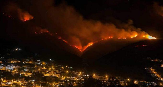Continúan las operaciones de extinción del incendio forestal registrado en el cerro Casitagua.