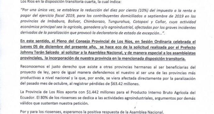 GOBIERNO DE LOS RÍOS SE UNE AL PEDIDO DE INCLUSIÓN DE LA PROVINCIA