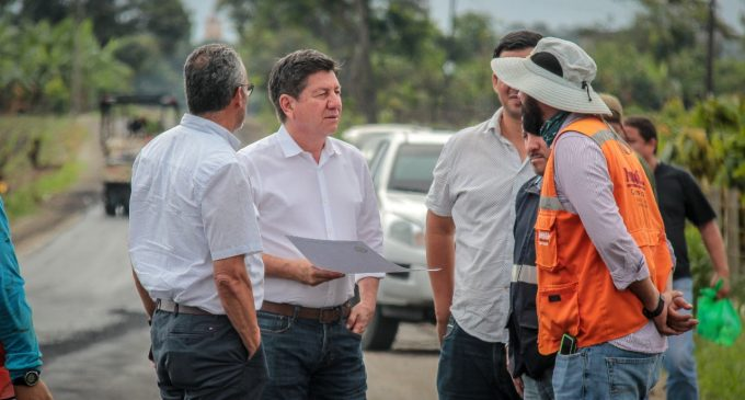 ASFALTADO EN LA VÍA PUERTO PECHICE- MÉXICO LINDO