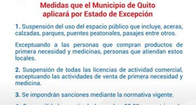 Quito restringe la circulación total de autos y buses particulares.