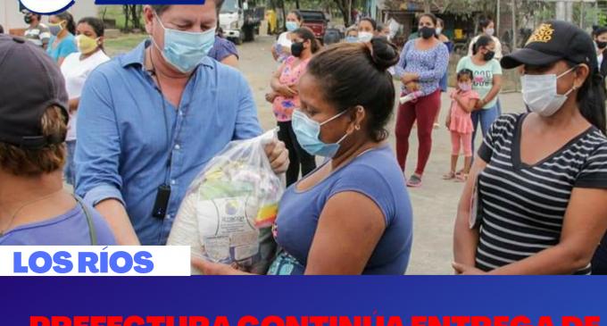 PREFECTURA CONTINÚA ENTREGA DE RACIONES DE ALIMENTOS