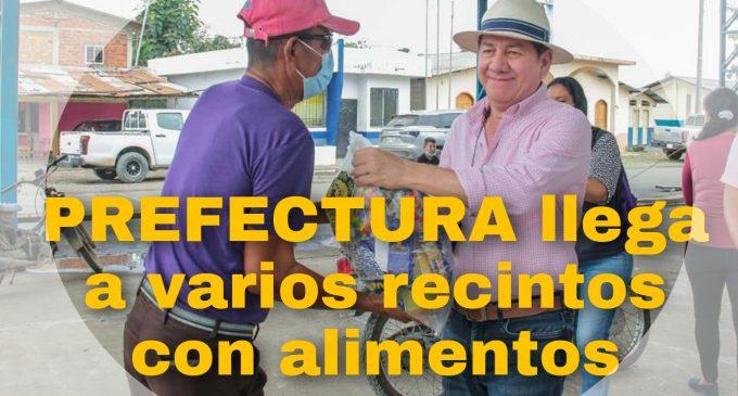 PREFECTURA ENTEGA RACIONES DE ALIMENTOS A VARIOS RECINTOS