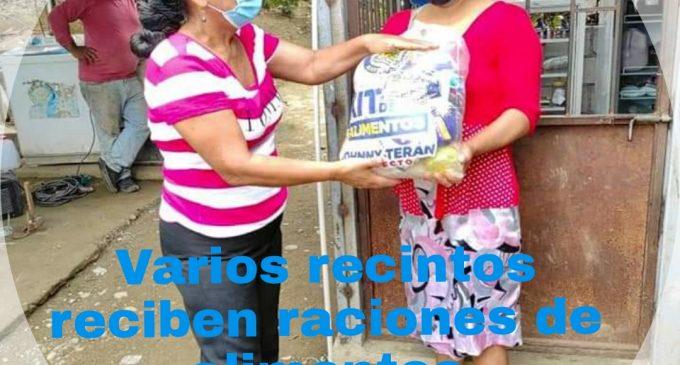 VARIOS RECINTOS DE BABAHOYO RECIBEN RACIONES DE ALIMENTOS